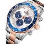 Оригинал NAVIFORCE9147Водонепроницаемы24часаFull Steel Мужские часы