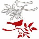 Оригинал Bird & Tree DIY Плашки Трафарет Записки Альбомная Бумага Тиснение Украшения