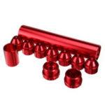 Оригинал 11шт красный 1 / 2inch-28inch алюминиевый топливный фильтр Набор, пригодный для NAPA 4003 WIX 24003
