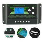 Оригинал ШИМ Солнечная Контроллер 10A 12 В 24 В Авто PV Солнечная Контроллер Зарядки Двойной 5V USB Батарея Регулятор