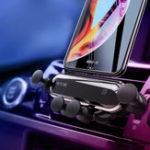 Оригинал Bakeey Upgrade Metal Gravity Linkage Automatic Замок Air Vent Авто Держатель телефона для смартфона 4.7-6.5 дюймов iPhone XS Макс Samsung Galaxy S10 +