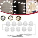 Оригинал 10 шт. USB голливудский LED лампа тщеславия Макияж туалетный столик с регулируемой яркостью зеркала свет Набор DC5V