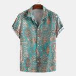 Оригинал Мужские рубашки с воротником Colorful Шаблон