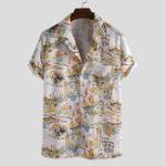 Оригинал Мужская модная смешная гавайская рубашка с коротким рукавом