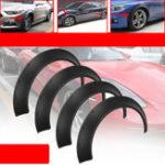 Оригинал Универсальные Авто колесные накладки на крыльях, 4 шт. Гибкие, но прочные полиуретановые комплекты кузова Очень широкие колесные арки