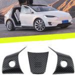Оригинал Крышки панели рулевого колеса Отделка карбоном для Tesla Model 3 2017-2019