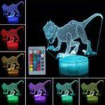 Оригинал 3D Динозавр Night Light Touch Remmote Control Home Decor Лампа Стол Стол Подарок