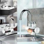 Оригинал 360 ° Электрический кран 3S Fast Instant Нагреватель Нажмите для кухни Ванная комната Горячий холодный кран