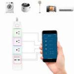 Оригинал DHEKINGD D800 Smart Wifi APP для управления удлинителем с 3 розетками US штекер 2 USB быстрая зарядка Разъем приложение для управления рабочей розеткой
