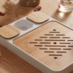 Оригинал CHENGSHE Bamboo Kung Fu Чай Набор для хранения воды Чай Лоток от xiaomi youpin