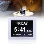 Оригинал 8 дюймов LED Dementia Digital Calendar Day Часы Очень большой экран тревоги Часы