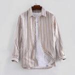 Оригинал Рубашки мужские в полоску из 100% хлопка с длинным рукавом осень