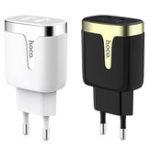 Оригинал HOCO 2.1A Dual Ports Быстрая зарядка ЕС зарядное устройство USB Адаптер для iPhone X XS iPad Pocophone F1 Oneplus 7 HUAWEI XIAOMI MI9 S10 S10+