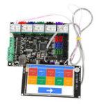 Оригинал MKS GEN L Материнская плата + 3,5 дюймов LCD WIFI с сенсорным экраном + 5x TMC2209 V2.0 Super Бесшумный Stepper Мотор Драйвер Набор для 3D-принтера