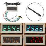 Оригинал 0,56 дюймов 200 В 3 в 1 Время + температура + напряжение Дисплей с вольтметром NTC DC7-30 В Белый Часы Цифровой Трубка