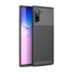 Оригинал Bakeey Protective Чехол Для Samsung Galaxy Note 10 Тонкий Углеродное волокно Устойчивость к отпечаткам пальцев Soft ТПУ Задняя крышка