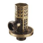 Оригинал Античный латунный треугольный клапан Ванная комната Аксессуар G1/2 Латунный угловой запорный клапан Заполняющий клапан Шестигранная колон