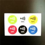 Оригинал 6 шт. Ntag213 144 байта NFC Емкость Цвета Электронная Метка Карты Стикер Телефон Доступен Клейкие Этикетки RFID
