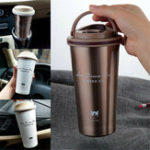 Оригинал 500ML Stainless Steel Leakproof Insulated Thermal Portable Car Travel Coffee Mug Cup