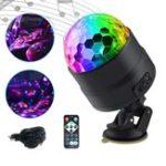 Оригинал 5V / 1A USB зарядка Дистанционный Голосовое управление Авто DJ Stage Lights