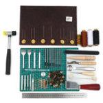 Оригинал 69PCS Leather Craft Набор Punch Набор Шить, вырезать, работать, шить