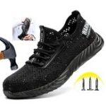 Оригинал Мужская защитная обувь Быстросохнущий стальной носок Нескользящая противоударная походная Кемпинг Рыбалка Рабочая обувь