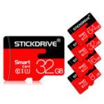 Оригинал StickDrive 8 ГБ 16GB 32GB 64GB 128 ГБ Класс 10 Высокоскоростной Макс. 80 Мбит / с TF Карта памяти с адаптером карты для планшета для мобильного телефона GPS кам