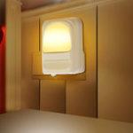Оригинал 1636 LED Night Light Интеллектуальное управление Plug-In Night Light Home Decor Лампа