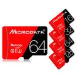Оригинал MicroData 16GB 32GB 64GB 128 ГБ Класс 10 V30 Высокоскоростная макс. 80 Мб / с TF Карта памяти с адаптером карты для планшета мобильного телефона GPS камера