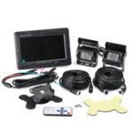 Оригинал 7 дюймов Рабочий стол Дисплей Экран с 2 шт. Водонепроницаемы IP67 Шина камера 2 шт. 10 метров Air Line CCD HD Инфракрасный чип