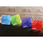 Оригинал (4 шт. / Лот) Наклейки NFC Smart Tag Ntag216 13.56 МГц Rfid-карта для всех телефонов NFC Android