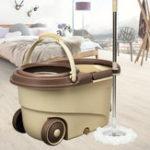 Оригинал Вращающаяся на 360 ° головка Easy Floor Mop Water Bucket 2x головки из микрофибры для очистки от спина Инструмент