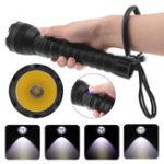 Оригинал A28 XHP70 500 м 4 режима Профессиональный фонарик для дайвинга Сильный свет Дальний свет 26650 фонарик для дайвинга