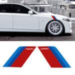 Оригинал Пара 17 * 24см Авто Наклейки на боковые крылья Наклейки Авто Кузов Декоративный Для BMW E90 E60 F30 F10 F07 F34 X1 X3 X4 X5 E70 X6 M2 M3 M5