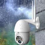 Оригинал Xiaovv V380-522 360 ° Панорамный 1080P Водонепроницаемы IP камера H.265 Инфракрасная ночная версия M-otion Detection WIFI камера Детские мониторы