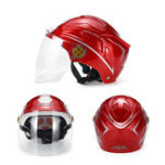 Оригинал Мотоцикл Электромобиль Шлем UNISEX летний дождь доказательство Полу шлем анти-загар ультрафиолетовый коричневый объектив 55-62см