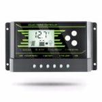 Оригинал ШИМ Солнечная Контроллер 20A 12 В 24 В Авто PV Солнечная Контроллер Зарядки Двойной 5V USB Батарея Регулятор