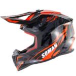 Оригинал SOMAN ECE Защитный чехол для мотокросса на всю поверхность лица Для взрослых мотоцикл Шлем для бездорожья с откидной крышкой для защиты от сол