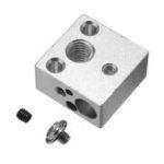 Оригинал 20 * 20 * 10 мм Цельнометаллический J-головка Hotend Нагревательный Блок Для V6 Creality 3D Принтер Боуден Экструдер