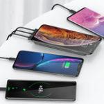 Оригинал USAMS 10000mAh Быстрая зарядка Back Clip Беспроводное зарядное устройство для iPhone X XS HUAWEI P30 Oneplus 7 XAIOMI MI9 S10 S10+