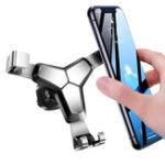 Оригинал Bakeey Metal Gravity Linkage Automatick Замок Air Vent Авто Держатель телефона для смартфонов 4.0-7.0 дюймов