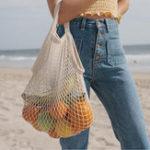 Оригинал Модные магазины Пляжный Net Сумка Tote Сумка