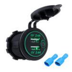 Оригинал P18-S Сенсорный Выключатель с Терминалом 2.4A + 2.4A Dual USB Авто Моторизованное Модифицированное Зарядное Устройство Мобильного Телефона 12-24 В