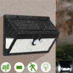 Оригинал 44 LED Солнечная Power Wall Light Security На открытом воздухе Сад Двор активированный Лампа