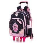 Оригинал 2/6 Колеса Детская Тележка Рюкзак 16-дюймовый Ноутбук Сумка Съемный Школа Рюкзак На открытом воздухе Travel