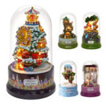 Оригинал Beautiful Cabins DIY Doll House Miniature Rotating Music Kit With Transparent Cover Musical Core Gift(Meet At The Corner/Snowy Wonderland/Garden Diary/Dream Of Sky/Forest Whim)