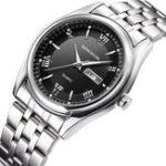 Оригинал KINGNUOS1858FullSteelМужскиенаручные часы в стиле casual