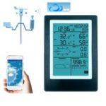 Оригинал WiFi Метеостанция LCD Термометр Гигрометр Давление осадков Давление скорости ветра Беспроводное приложение Прогноз погоды Данные Сигнализа