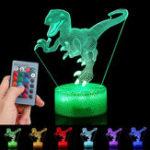Оригинал 3D Dinosaur Night Light Touch Дистанционное Управление Подарочный декор для дома Спальный стол Лампа