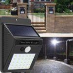 Оригинал 2шт Солнечная Мощность 30 LED PIR Motion Датчик Настенный светильник Водонепроницаемы На открытом воздухе Дорожка Сад Безопасность Лампа